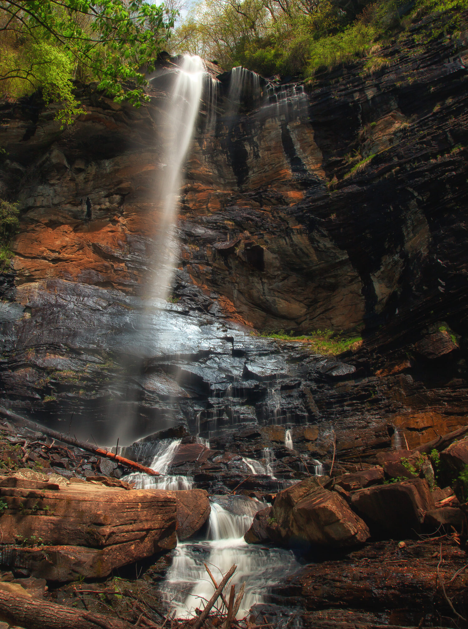 image of rainbow falls sc